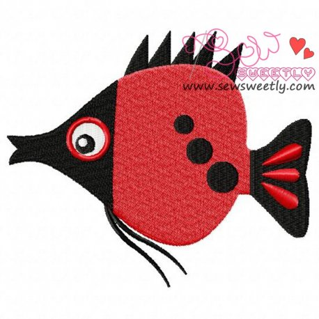 Cute Sweet Fish-2 Machine Embroidery Design For Kids