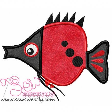 Cute Sweet Fish-2 Machine Applique Design For Kids