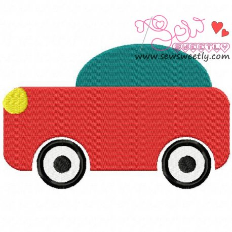 Cartoon Car Machine Embroidery Design For Kids
