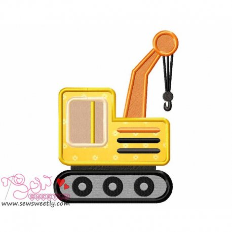 Construction Truck-3 Machine Applique Design For Kids