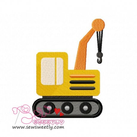 Construction Truck-3 Machine Embroidery Design For Kids