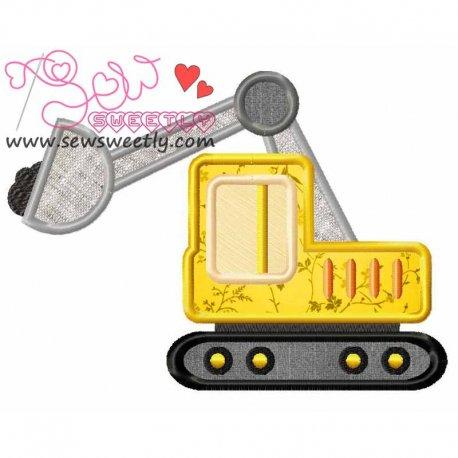 Construction Truck-9 Machine Applique Design For Kids