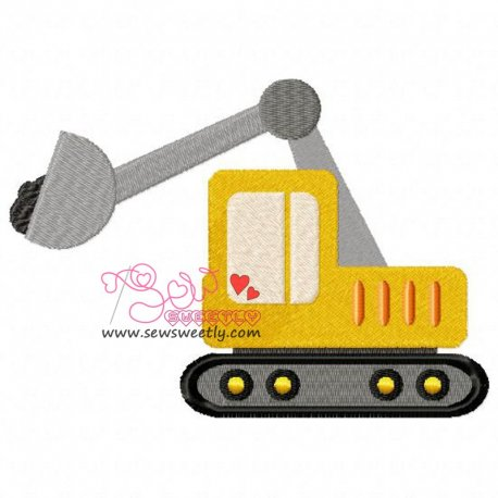 Construction Truck-9 Machine Embroidery Design For Kids