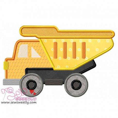 Construction Truck-1 Machine Applique Design For Kids