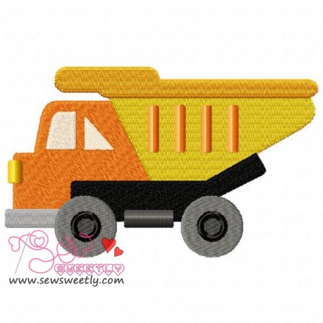 Construction Truck-1 Machine Embroidery Design For Kids