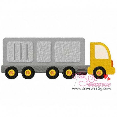 Construction Truck-2 Machine Embroidery Design For Kids