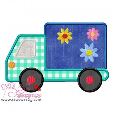 Delivery Truck Machine Applique Design For Kids