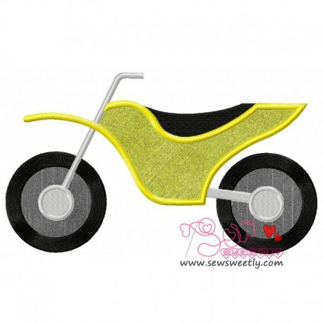 Dirt Bike Machine Applique Design For Kids