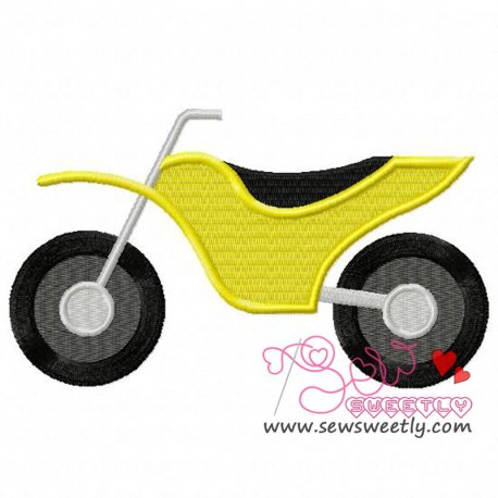 Dirt Bike Machine Embroidery Design For Kids