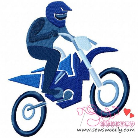 Dirt Bike-1 Machine Embroidery Design For Kids