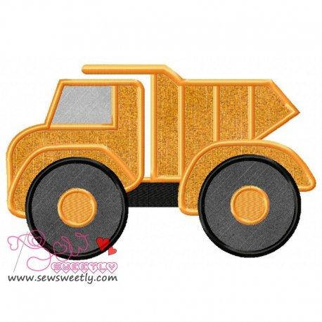 Dump Truck Machine Applique Design For Kids