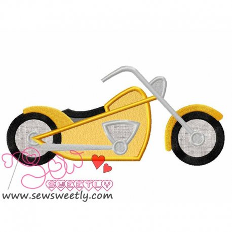 Easy Rider Machine Applique Design For Kids
