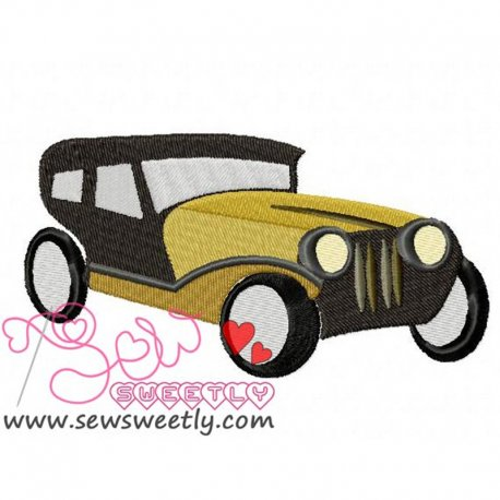 Heritage Car Machine Embroidery Design For Kids