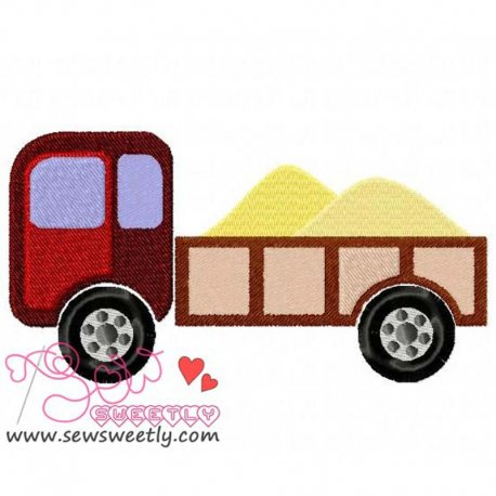 Pick Up Truck Machine Embroidery Design For Kids