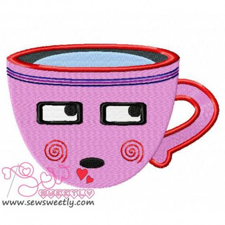 Sweet Cup-2 Machine Embroidery Design For Kitchen And Food Projects And Hand Towels