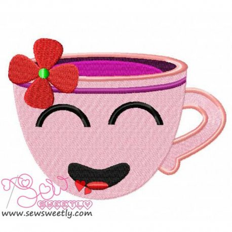 Sweet Cup-1 Machine Embroidery Design For Kitchen And Food Projects And Hand Towels
