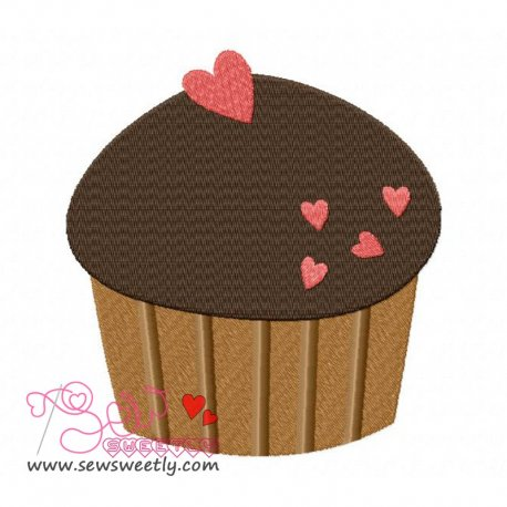 Lovely Cupcake-2 Machine Embroidery Design For Kitchen And Food Projects