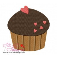 Lovely Cupcake-2 Embroidery Design