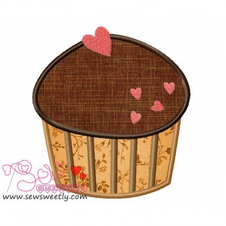Lovely Cupcake-2 Machine Applique Design For Kitchen And Food Projects