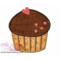 Lovely Cupcake-2 Applique Design
