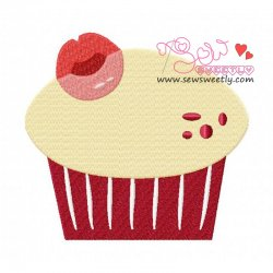 Lovely Cupcake-1 Embroidery Design