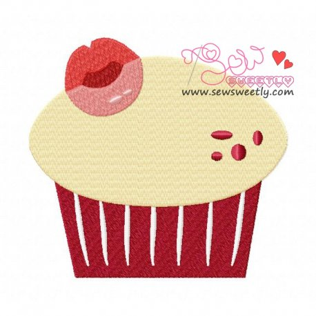 Lovely Cupcake-1 Machine Embroidery Design For Kitchen And Food Projects