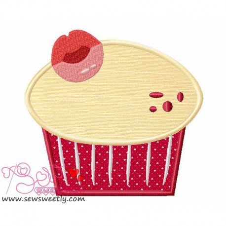Lovely Cupcake-1 Machine Applique Design For Kitchen And Food Projects