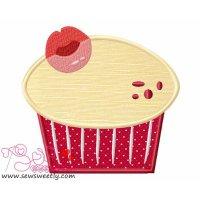 Lovely Cupcake-1 Applique Design