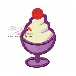 Ice Cream Cup-1 Embroidery Design