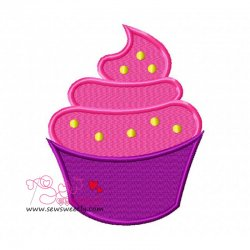 Ice Cream Cup Embroidery Design