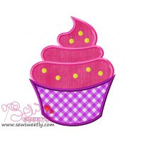 Ice Cream Cup Applique Design