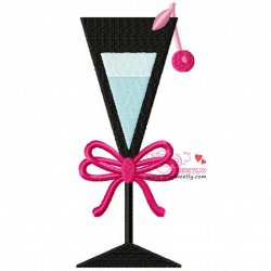 Cocktail Drink-4 Embroidery Design