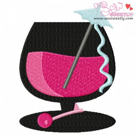 Cocktail Drink-3 Machine Embroidery Design For Summer, Kitchen And Food Projects