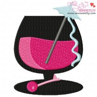 Cocktail Drink-3 Embroidery Design