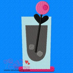 Cocktail Drink-2 Embroidery Design