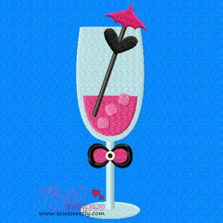Cocktail Drink-1 Machine Embroidery Design For Summer, Kitchen And Food Projects