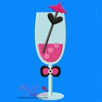 Cocktail Drink-1 Embroidery Design