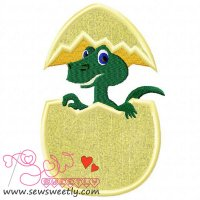 Baby Dragon Applique Design