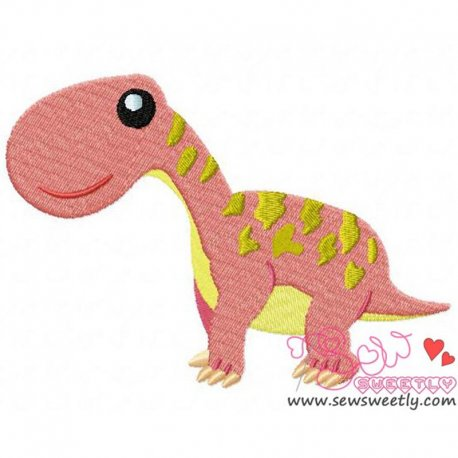 Big Dinosaur Machine Embroidery Design For Kids