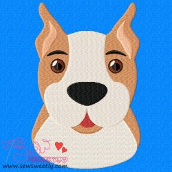 Boxer Face Embroidery Design