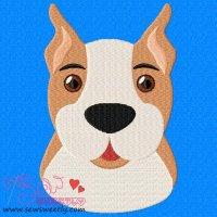 Boxer Face Embroidery Design