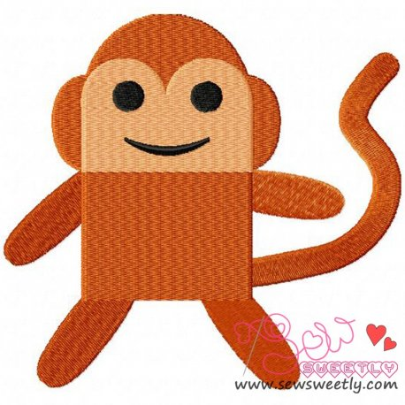 Cheeky Monkey Machine Embroidery Design For Kids