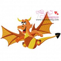 Cartoon Dragon Embroidery Design