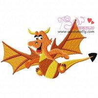 Cartoon Dragon Embroidery Design