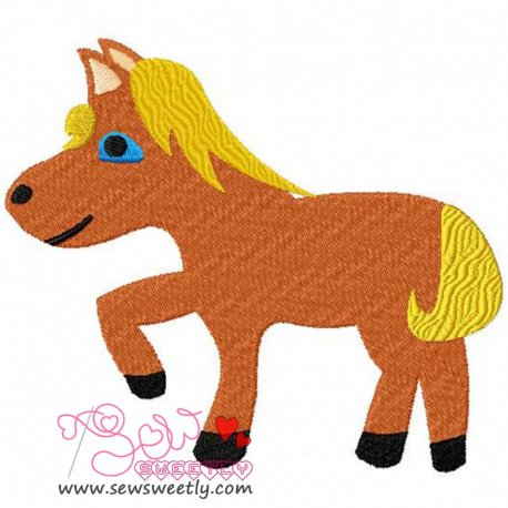 Funny Horse Machine Embroidery Design For Kids
