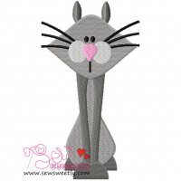 Sweet Cat Embroidery Design