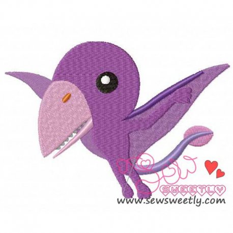 Tropeognathus Dinosaur Machine Embroidery Design For Kids