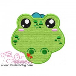 Crocodile Face Applique Design