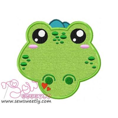 Crocodile Face Applique Design