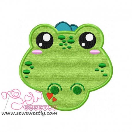 Crocodile Face Machine Applique Design For Kids